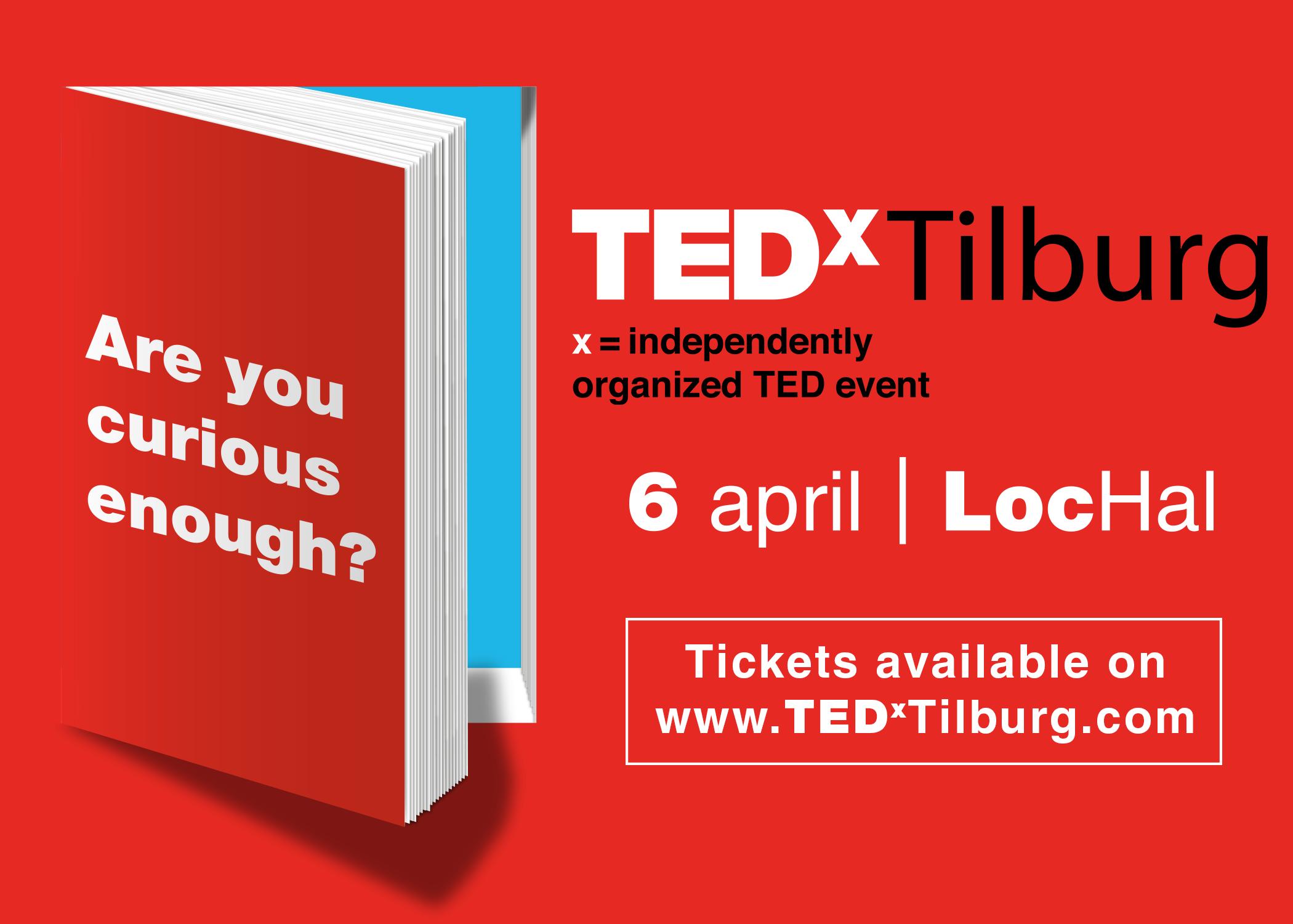 6 april: TEDxTilburg