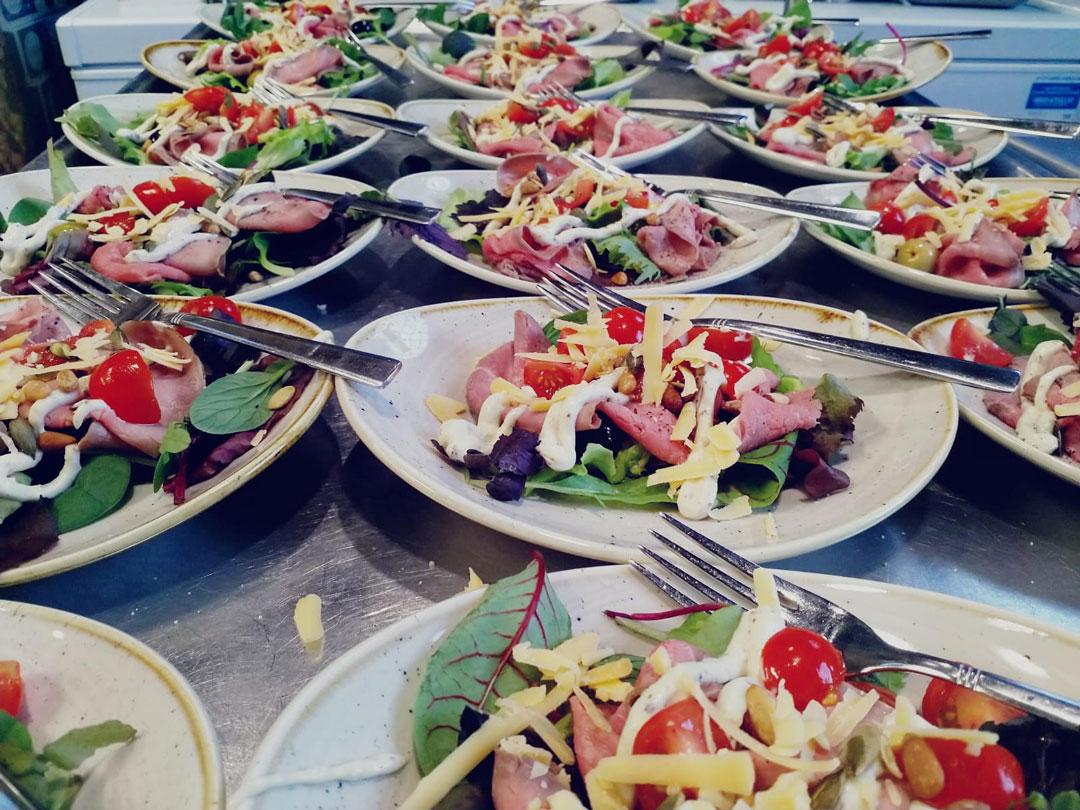Lunch bij de meeting bij seats2meet Den Bosch