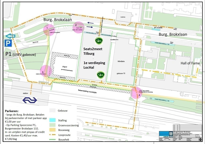 looproute Seats2meet Tilburg Spoorzone